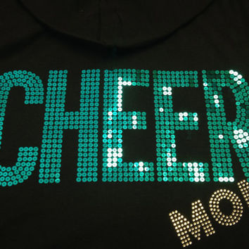 CHEER MOM Jacket Hoodie Sweatshirt - (7 Customizable Colors)