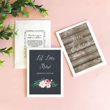 Personalized Floral Garden Flower Seed Favors