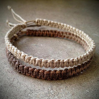 Natural Hemp Bracelets Set