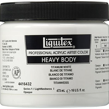 Liquitex Professional Heavy Body Acrylic Paint 4.65-oz tube, Titanium White