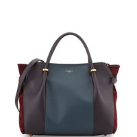 Marche Tricolor Leather Satchel Bag
