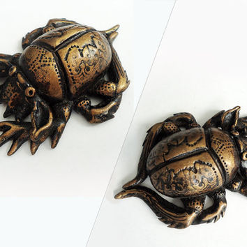 Scarab beetles, Scorpion, Talisman Totem Amulet Miniature figure art decor, insect sculpture