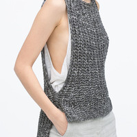 Grey Loose Knit Tank Top
