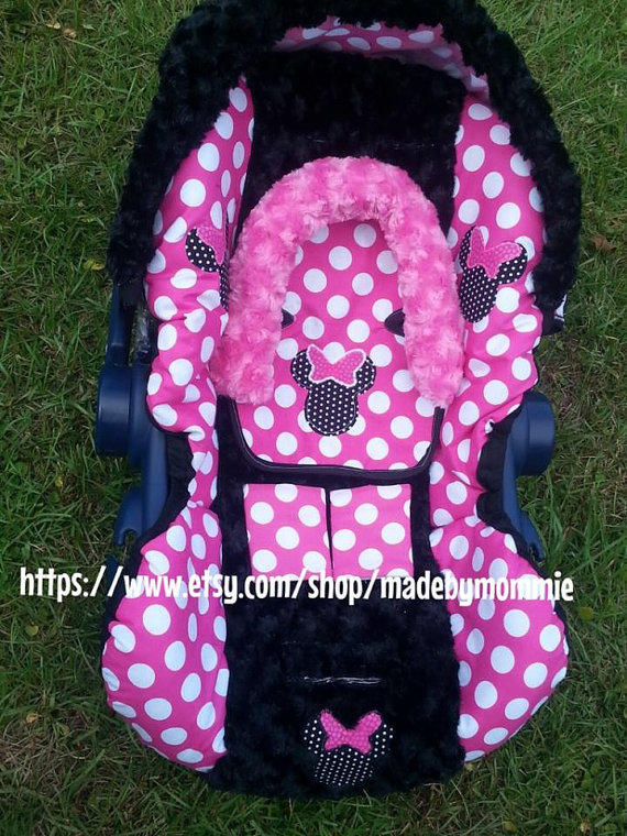 Minnie Mouse Car Seat Strap Covers