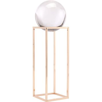 Gold Square Orb Figurine, Large