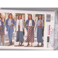 Butterick 4403 misses plus size 18 20 22 sewing pattern for shirt jacket, vest, knit top, loose fitting shorts, skirt, pants UNCUT