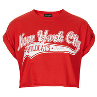 College Wildcats Crop Tee - Jersey Tops - Clothing - Topshop USA