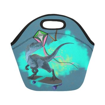 Dinosaur Insulated Lunch Bag Tote
