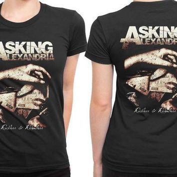 ESBH9S Asking Alexandria Reckless And Relentless Poster 2 Sided Womens T Shirt