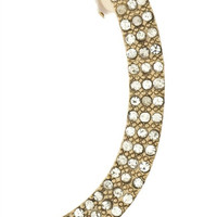 The Gold Bar Pavé Crystal Ear Cuff