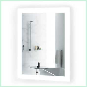 all LED Bathroom Mirror 15 Inch x 20 Inch | Lighted Vanity Mirror Includes Dimmer & Defogger | | Wall Mount Vertical or Horizontal Installation |