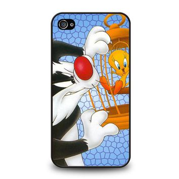 SYLVESTER AND TWEETY Looney Tunes iPhone 4 / 4S Case Cover