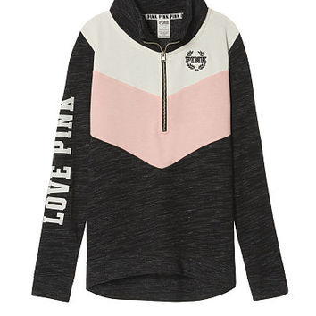 High/Low Half-Zip - PINK - Victoria's Secret