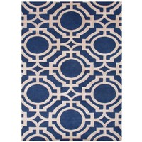 Manan Deep Blue Hand Knotted Rug