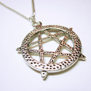 Five Point Pentagram Pendant Pentagram Necklace Gift Idea For Her Statement Necklace NECKLACE JEWELRY