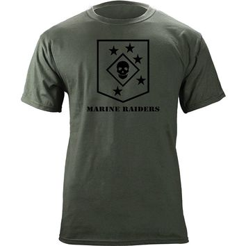 2018 New Summer Men Tee Shirt Marine Raiders Subdued Veteran T-Shirt