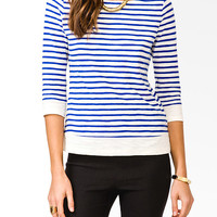 Essential 3/4 Sleeve Striped Top