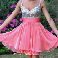 Watermelon Homecoming Dress Short Watermelon by Promgirlsdress