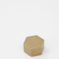 Totokaelo - Iacoli & McAllister Brass Hex Weight - $116.00