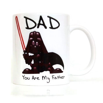 Dad You Are My Father star wars coffee mugs Darth Vader mugs cups ceramic white mug porcelain tea cups drink water milk beer