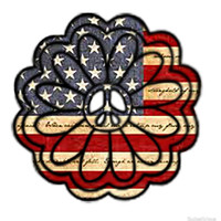 'American Flag Peace Flower ' by Swigalicious