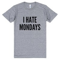 I Hate Mondays T-shirt (ida722130)-Unisex Athletic Grey T-Shirt