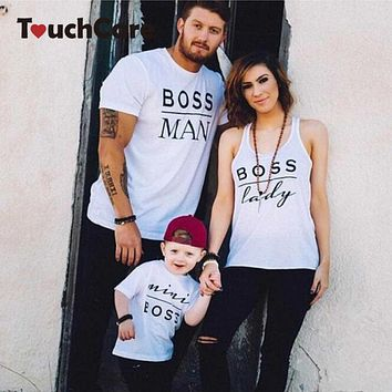 Mommy, Daddy & Me Boss Family Matching Short Sleeve T-shirts