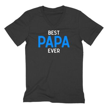 Best papa ever, grandparents gift, Father's day gifts, grandpa V Neck T Shirt