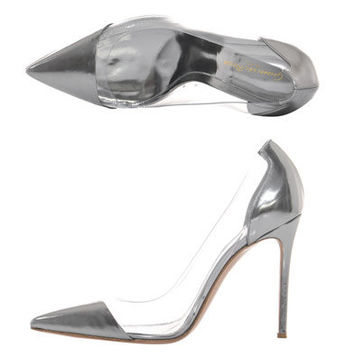 Exclusive leather and PVC shoes | Gianvito Rossi | MATCHESFASH...