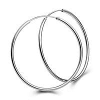1Pair Big Smooth big ears ring Clear Circle Round Hoop Charm Earrings