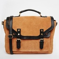 ASOS | ASOS Suede and Leather Vintage Satchel Bag at ASOS