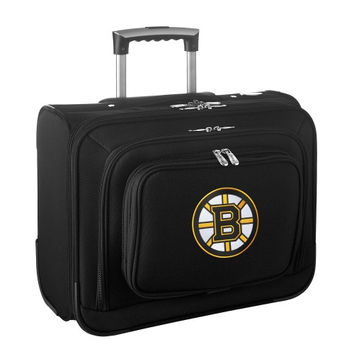 Boston Bruins Carry-On Rolling Laptop Bag - Black - http://www.shareasale.com/m-pr.cfm?merchantID=7124&userID=1042934&productID=540327673 / Boston Bruins