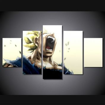 Vegeta dragon ball z super saiyan room decor print poster picture canvas