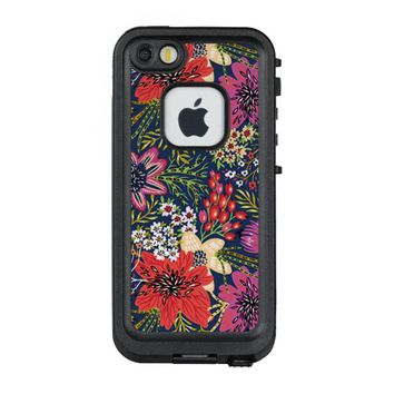 Vintage Bright Floral Pattern Fabric LifeProof® FRĒ® iPhone 5 Case