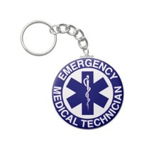EMT Emergency Medical Technician Keychain from Zazzle.com