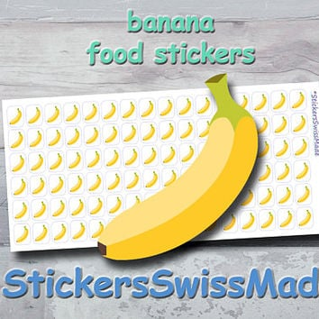 PLANNER STICKER || banana || food || fruit || small colored icon | for your planner or bullet journal