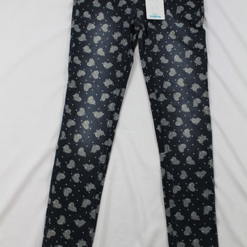 Girls Justice Knit Heart Jeggings, size 14