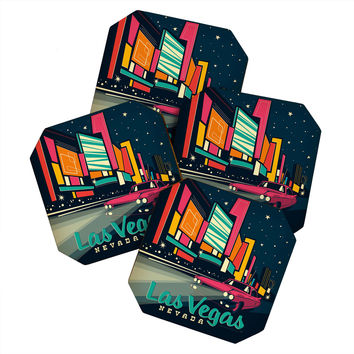 Anderson Design Group Las Vegas Coaster Set