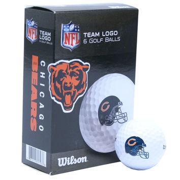 Chicago Bears White Golf Balls Pack of 6
