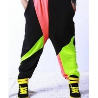 Hip Hop Fluorescent Color Female Pants from Tobi's Finds