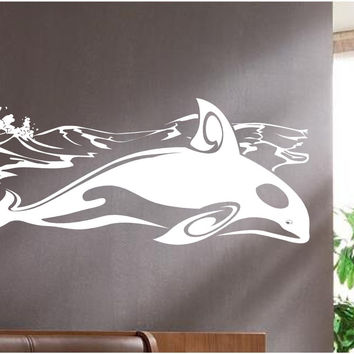 Whale Ocean Wall Decals Mural Home Decor Vinyl Stickers Decorate Your Bedroom Nursery