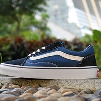 VANS Classic Old Skool Low Black / Blue / White sneaker Casual Shoes