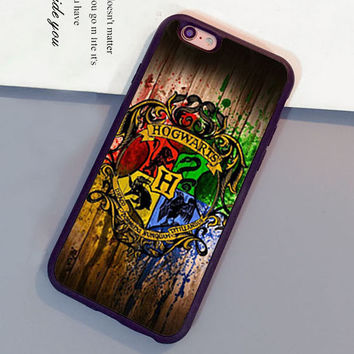 Harry Potter Hogwarts On Wood Pattern Luxury Mobile Phone Cases For iPhone 6 6S Plus 7 7 Plus 5 5S 5C SE 4S Soft Rubber Cover