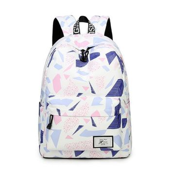"Girls bookbag Water Resistant Lightweight Fashion Three Colors Printed School Backpack with 15.6"" Laptop Sleeve Cute Bookbag for Girls AT_52_3"