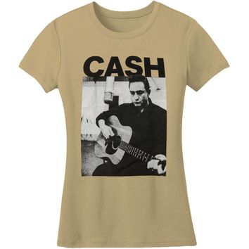 Johnny Cash  Guitar Portrait Junior Top Military