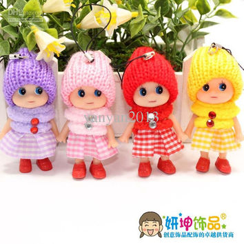 Free shipping Key pendant, Beautifully detailed confused dolls, cell phone accessories