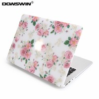 case for macbook,dowswin for macbook 11 air 13 15 pro with retina 12inch hard pc cover with matte transparent keyboard protector