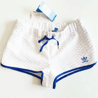 Adidas Women Fashion White Shorts