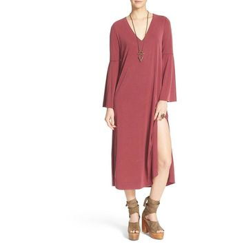 Free People Fine Romance Tunic Dress In Scarlet