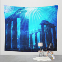Deep Wall Tapestry by Haroulita